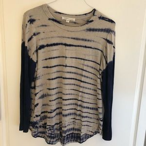 Karen Kane Tie Dye Stretch Knit Long Sleeve Shirt